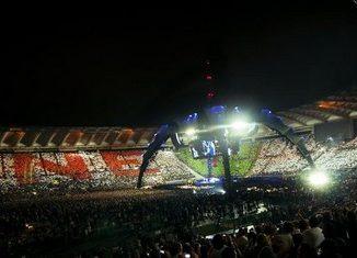 Coreografia del concerto U2 a Roma ©Foto U2.com