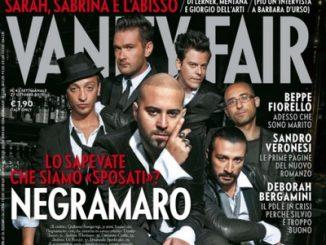 Negramaro sulla copertina di Vanity Fair