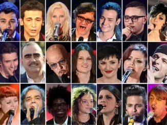 I campioni in gara al Festival di Sanremo 2016
