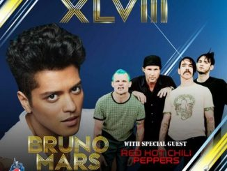 Superbowl 2014 con Bruno Mars e Red Hot Chili Peppers