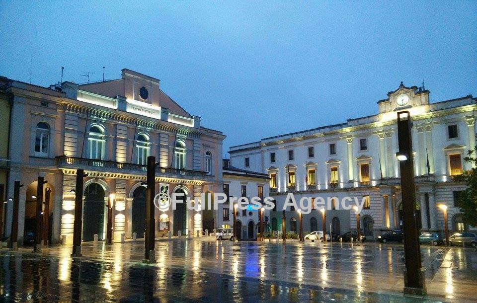 Piazza Mario Pagano a Potenza, sede del mega concerto del Capodanno di RAI 1©Foto FullPress Agency