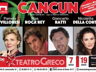 La locandina di Cancun, spettacolo con Pamela Villoresi al Teatro Greco di Roma