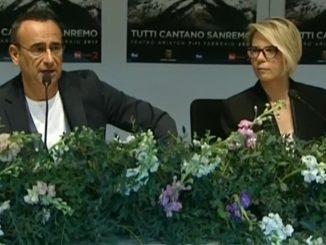 Conferenza Stampa Carlo Conti e Maria De Filippi