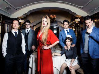 Il cast di RISIKO - Quell' irrefrenabile voglia di potere. Foto. Barbara Ledda, location; Herry's Bar