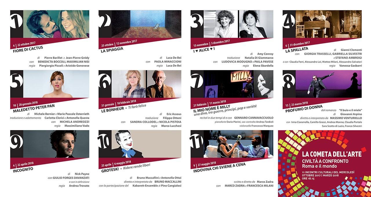 Stagione 2017/2018 del Teatro della Cometa