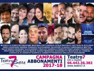 Teatro Sette di Roma, Stagione 2017/2018