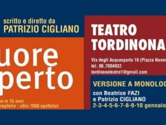 Teatro: A Cuore aperto con Patrizio Cigliano e Beatrice Fazi, la locandina