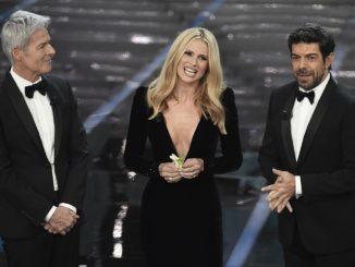 I conduttori di Sanremo 2018: Claudio Baglioni, Michelle Hunziker e Pierfrancesco Favino
