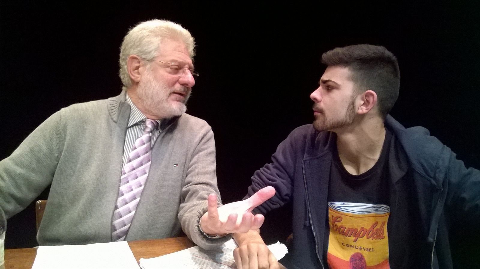 Parlo italiano al Teatro Libero di Palermo - nella foto G.Angione e F.Sciuto