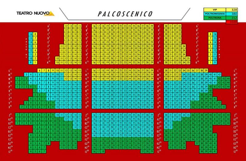 Pianta Teatro Nuovo, Milano