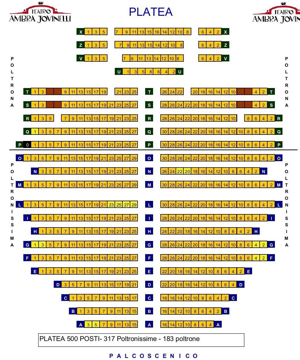 Teatro Ambra Jovinelli Pianta